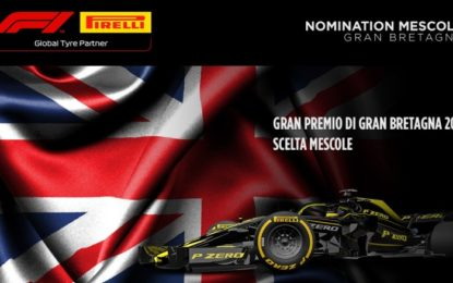 Le mescole nominate per il GP di Gran Bretagna 2019