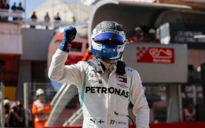 Spagna: Bottas abbonato alla pole. Poi Hamilton e Vettel