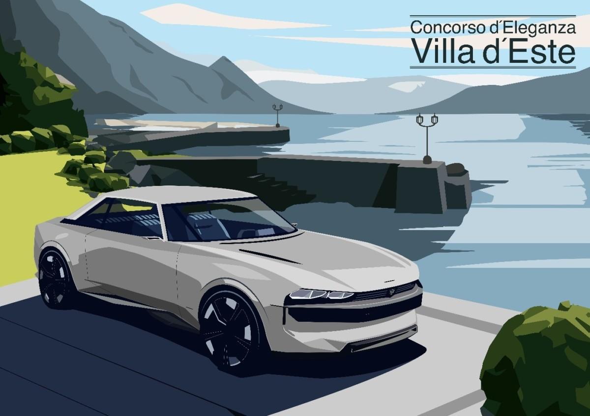Peugeot e-LEGEND CONCEPT al Concorso d'Eleganza Villa d'Este