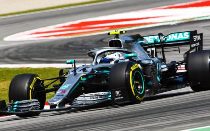 Spagna: Mercedes allunga sulla Ferrari nelle FP2