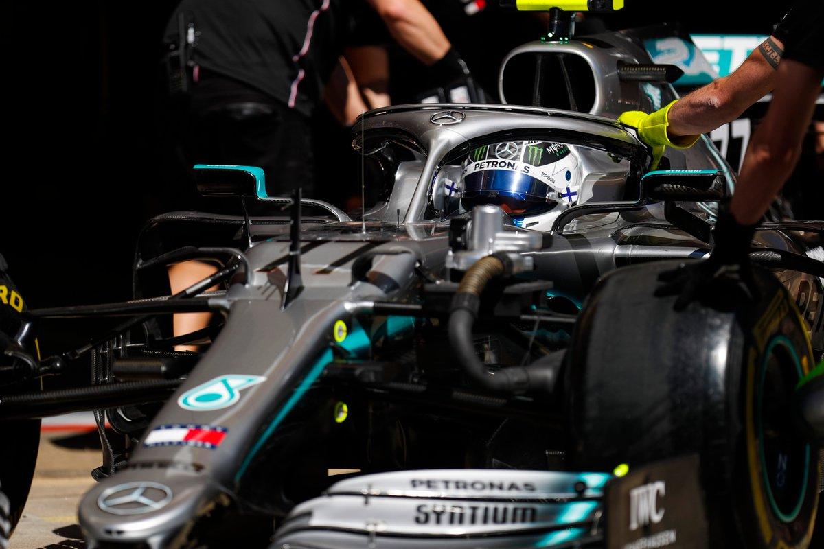 Bottas e le Ferrari nelle FP1 in Spagna