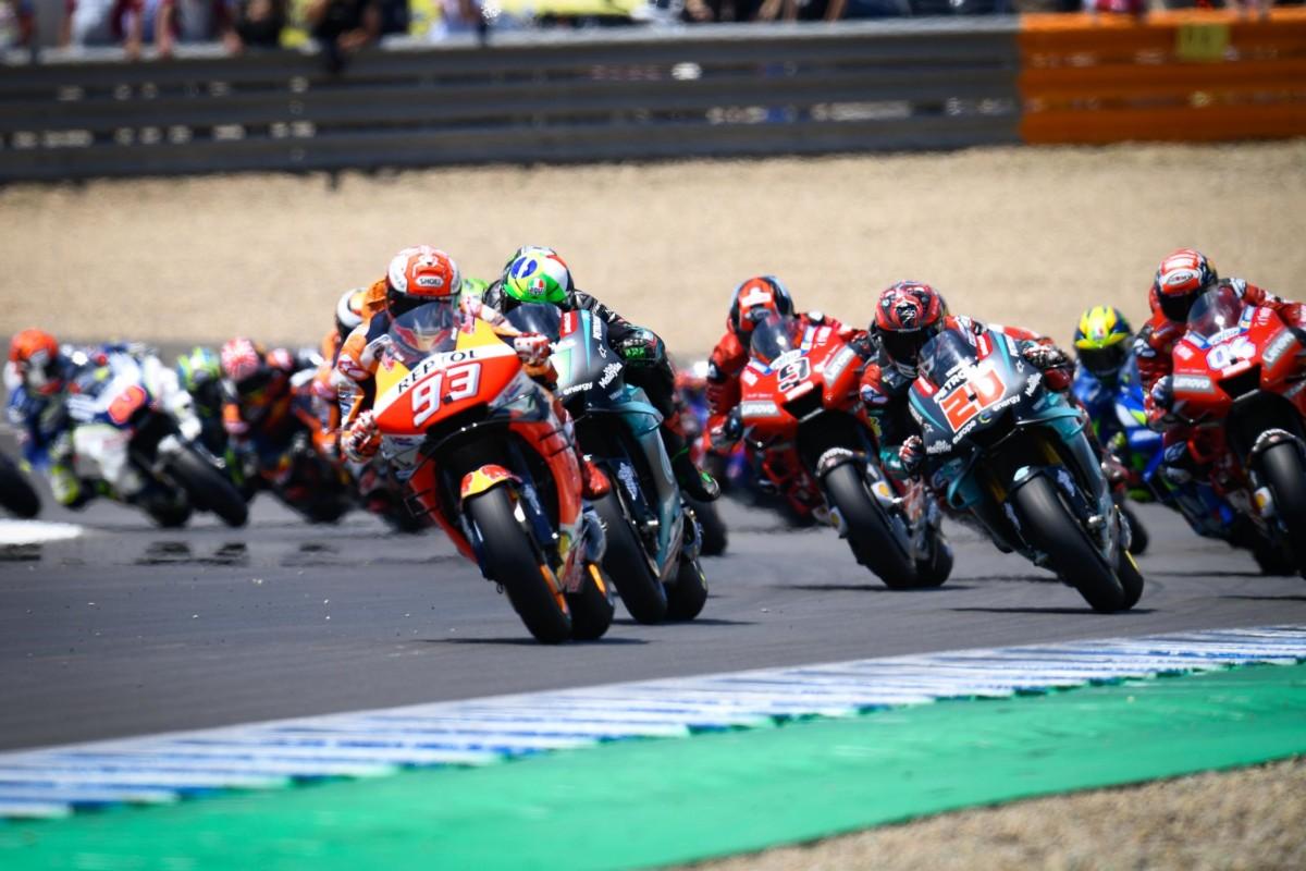 Marquez conquista Jerez davanti a Rins, Viñales e Rossi