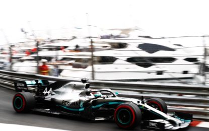 Monaco: Hamilton, Verstappen, Bottas vicinissimi nelle FP1