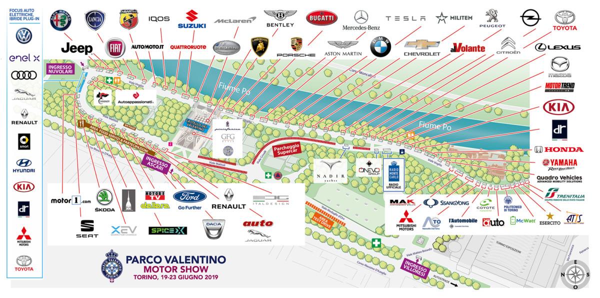 Parco Valentino 2019 record, con 50 brand