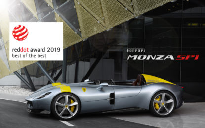"Due premi per la Ferrari al ""Red Dot Award: Product Design 2019"""