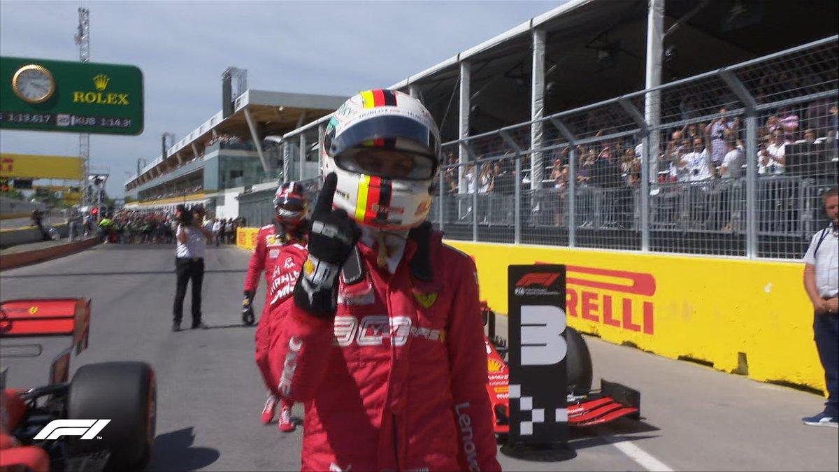 Canada: finalmente Vettel torna in pole, davanti a Hamilton e Leclerc