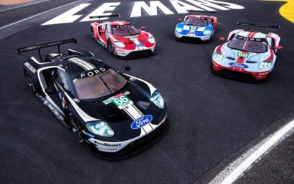 Livree celebrative per le Ford GT a Le Mans