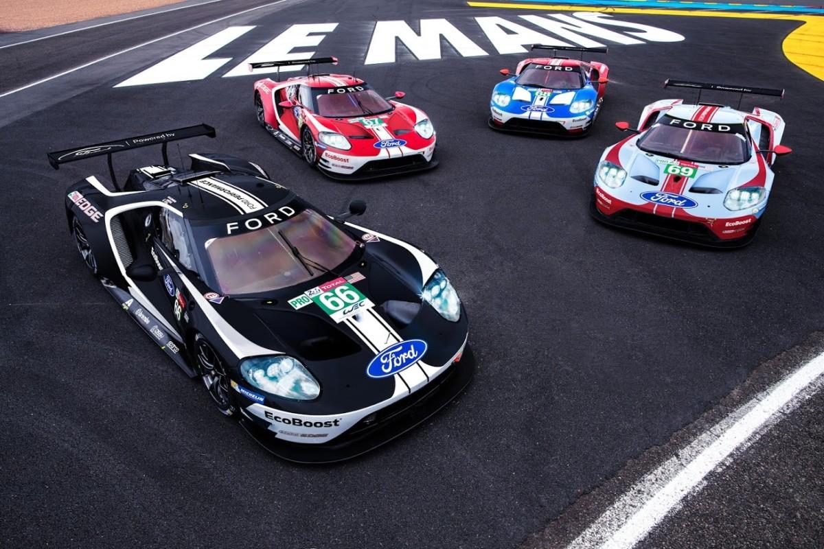 Livree celebrative per le Ford GT a Le Mans