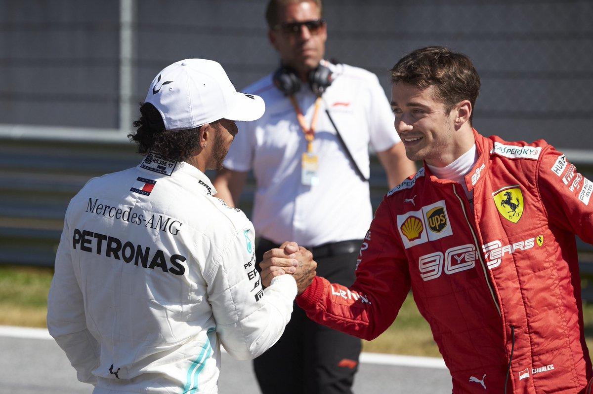 Austria: pole di Leclerc davanti a Hamilton e Verstappen. KO di Vettel