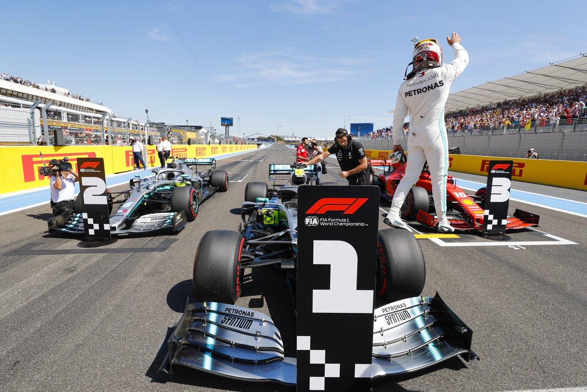 Francia: pole di Hamilton, poi Bottas e Leclerc. Super McLaren! Vettel 7°