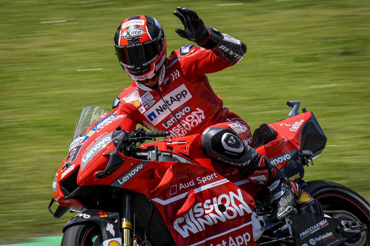 Al Mugello prima vittoria di Petrucci in MotoGP. Crollo Rossi