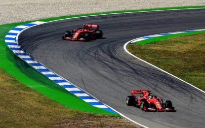 Vettel e Leclerc post-libere Germania