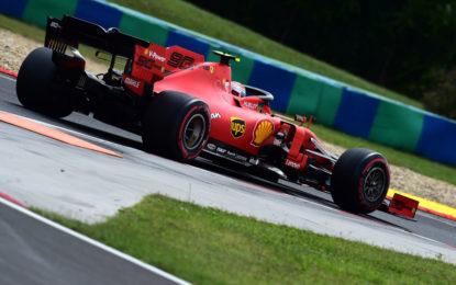 Solo 2° e 3° fila per la Ferrari in Ungheria. E un altro errore di Leclerc