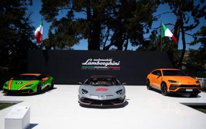 Lamborghini celebra un anno da record a Pebble Beach