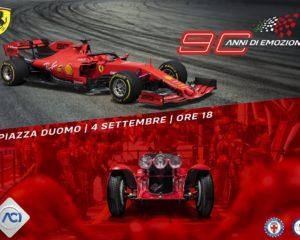 90 anni di emozioni con ACI e Ferrari il 4 settembre in piazza Duomo