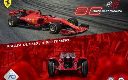 90 Anni di Emozioni: parata di stelle a Milano, tra cui Vettel e Leclerc