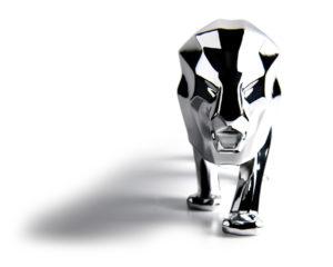 Peugeot: una scultura in scala del Leone