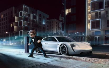 Rex Dasher al volante della Porsche Mission E