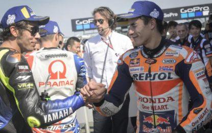 Silverstone: Marquez in pole, seguito da Valentino Rossi