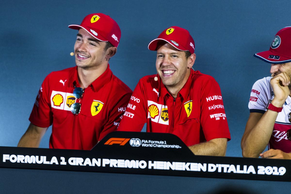 """""""Far bene per i tifosi"""": obiettivo comune per Vettel e Leclerc a Monza"""