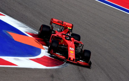 Ferrari davanti alle Mercedes nelle terze libere in Russia