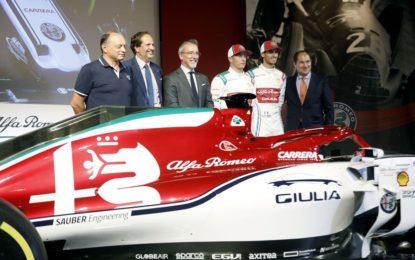 Livrea speciale per l'Alfa Romeo a Monza. E i coniugi Raikkonen attori…