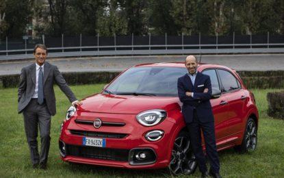 Mancini a Torino per provare la Nuova Fiat 500X Sport