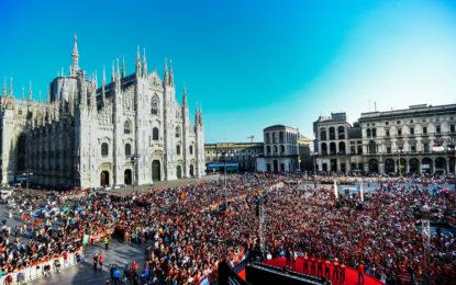 """Grande festa a Milano per """"90 Anni di Emozioni"""" con ACI e Scuderia Ferrari"""