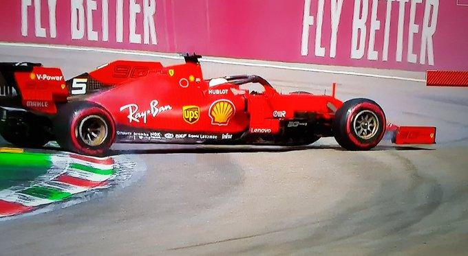 Vettel e la poca visibilità nella manovra alla Ascari