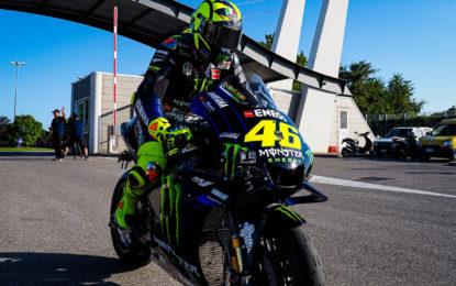 Valentino Rossi da Tavullia al Misano World Circuit