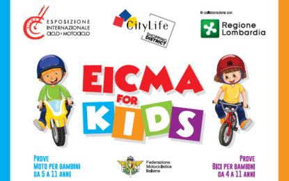 Domenica a Milano ultima tappa di EICMA FOR KIDS