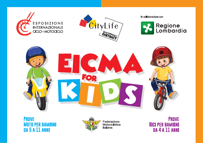 Domenica a Milano ultima tappa di EICMA FOR KIDS