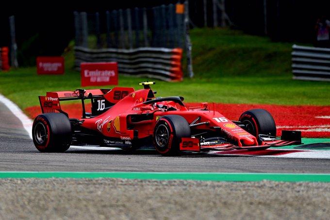Monza: pole di Leclerc davanti alle Mercedes e a Vettel