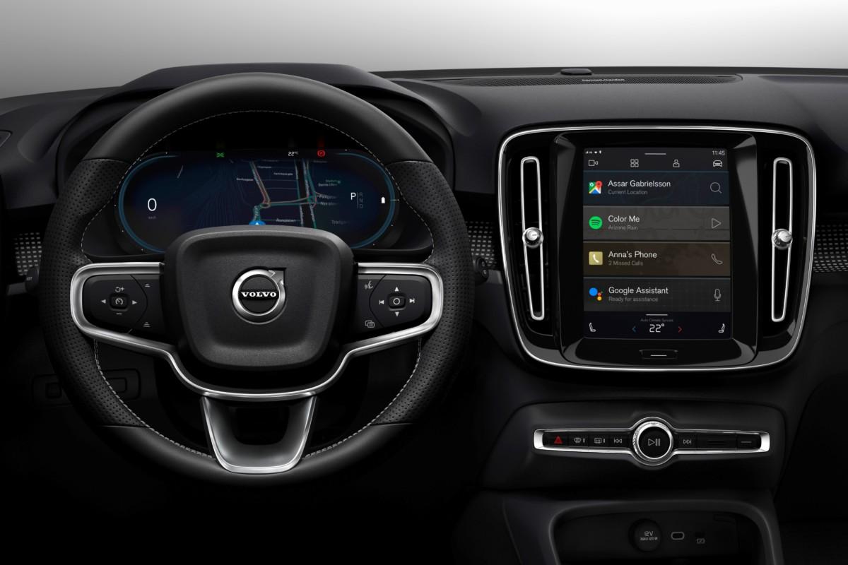 Nuovo sistema di infotainment per Volvo XC40 a trazione elettrica