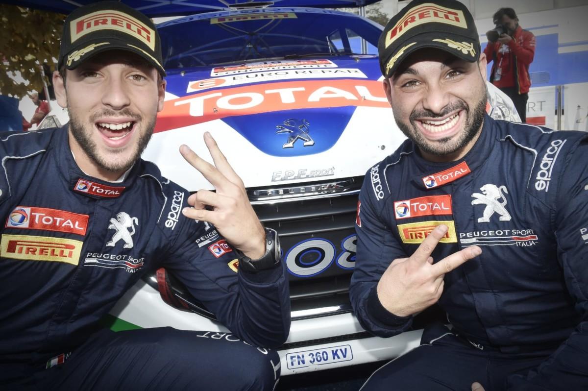 Al Rally 2 Valli Ciuffi-Gonella e Peugeot 208 campioni con una gara d'anticipo