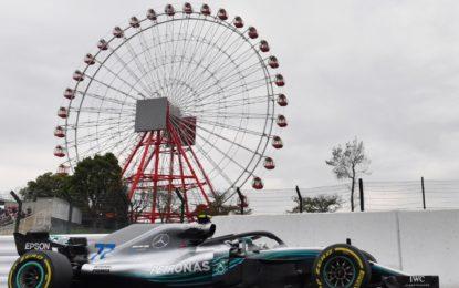Giappone: Mercedes davanti alle Ferrari nelle FP1. E sabato cancellato