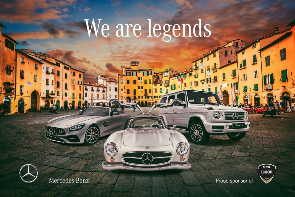 Mercedes sponsor a Lucca Comics & Games 2019