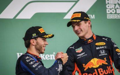 Brasile: Verstappen, Gasly, Sainz dopo la penalità di Hamilton. Vergogna Ferrari