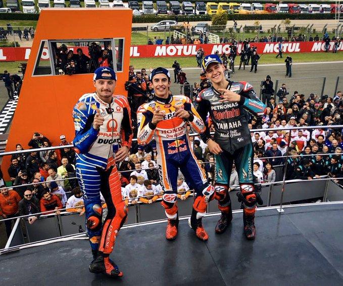 Valencia: Marquez vince (anche il Costruttori) davanti a Quartararo e Miller