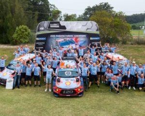 Al Masters' Show i quattro piloti Hyundai con le i20 WRC