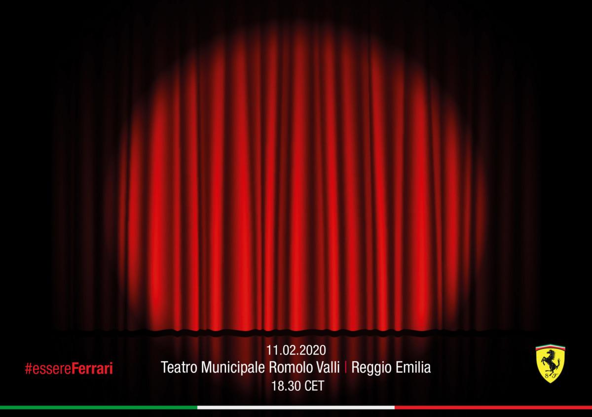 La Ferrari F1 2020 debutta al teatro di Reggio Emilia. E per ora solo sui social