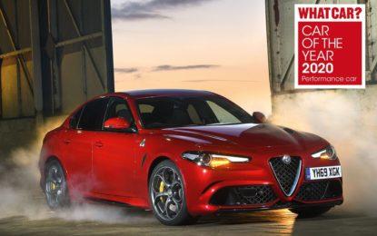 """Tripletta Alfa Romeo Giulia Quadrifoglio nel premio """"Car of the Year 2020"""""""