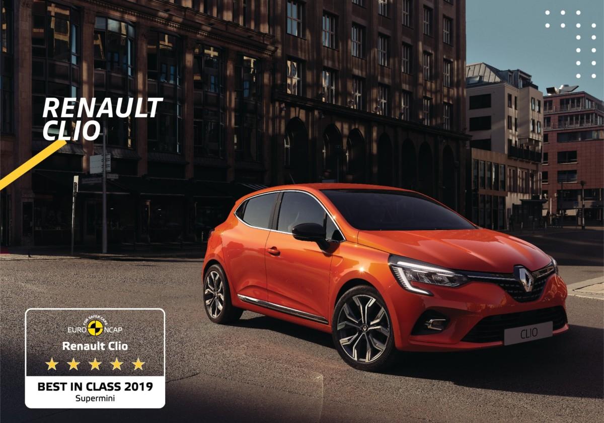 Euro NCAP: Nuova Renault Clio city car più sicura del 2019
