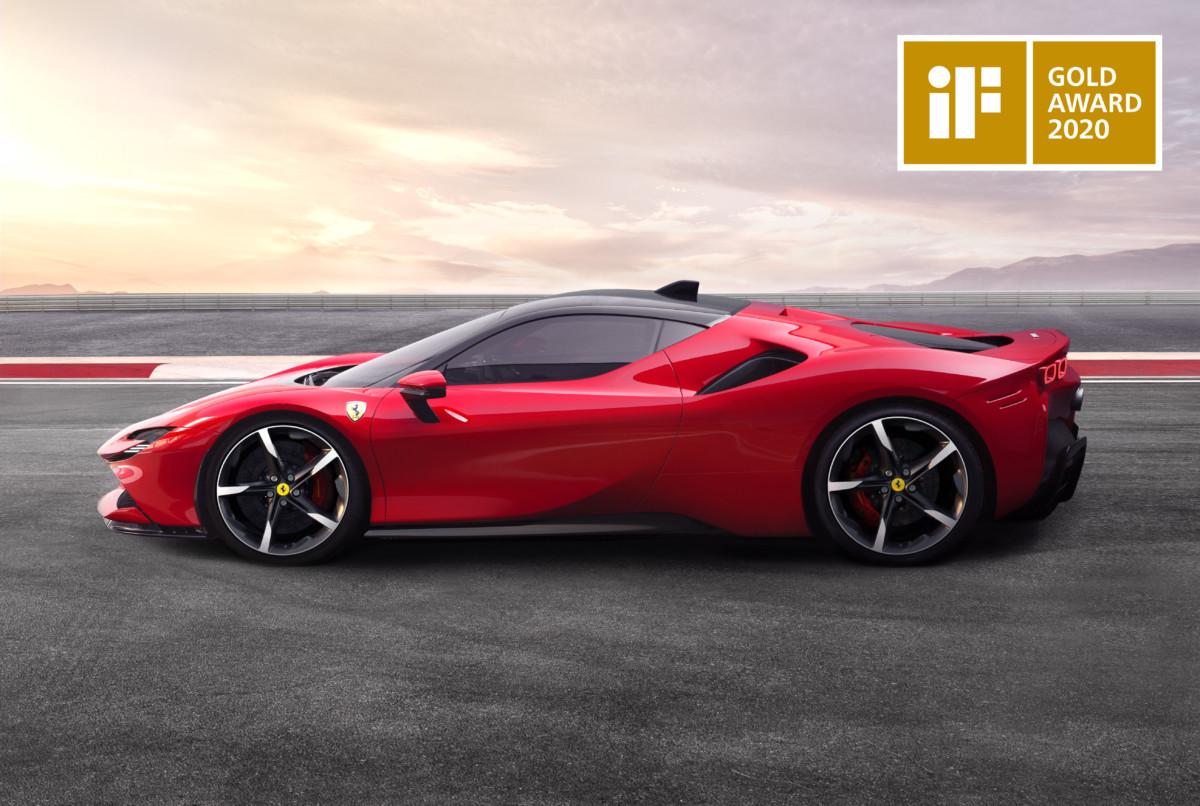 iF Design Gold Award alla Ferrari SF90 Stradale