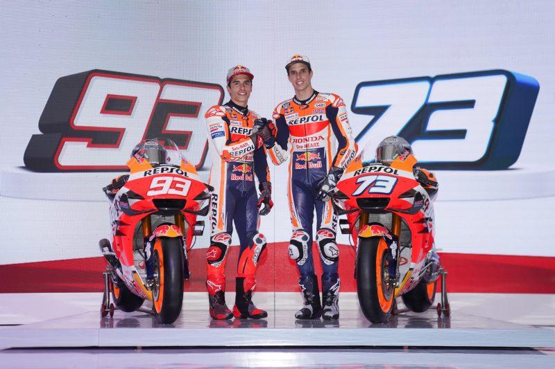 I fratelli Marquez presentano la loro Honda RC213V MotoGP