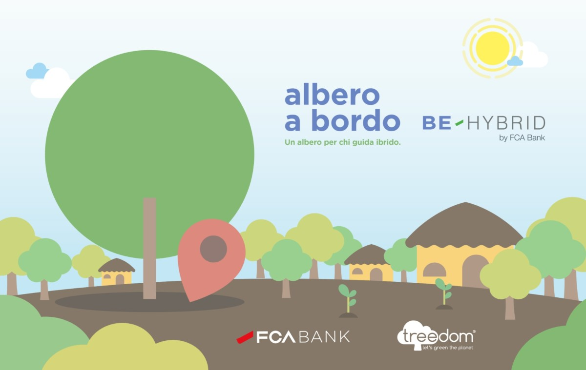 Albero a bordo con Be-Hybrid by FCA Bank