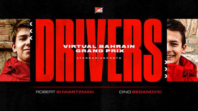 I piloti FDA in pista nel Virtual Grand Prix del Bahrain