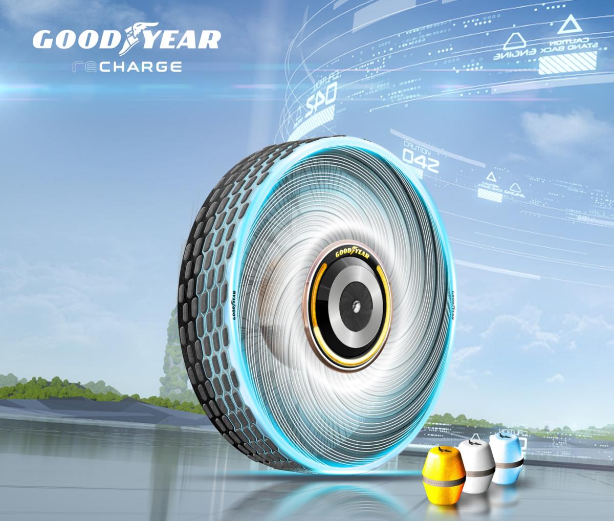 "Goodyear reCharge: un pneumatico concept ""adattabile"""