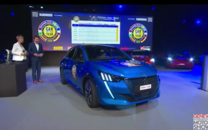 COTY: Peugeot 208 è Car Of The Year 2020