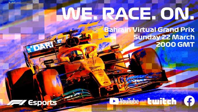 Formula 1 lancia Virtual Grand Prix Series, per sostituire i GP annullati
